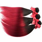 3 Bundles Two Tone Ombre Straight Virgin Brazilian Human Hair Extension Weft 50g