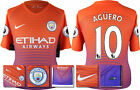 *16 / 17 - NIKE ; MAN CITY 3RD KIT SHIRT SS + PATCHES / AGÜERO 10 = SIZE*