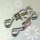 Hooks & Eyes Silver SEW ON Various Sizes Girdle Lingerie Fastening Extender Bulk