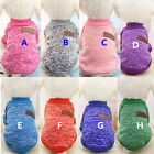 Cute and Classic Dog Sweater Pet Coat Warm Clothing Cat Clothes Jacket XS-XXL