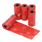 5 Rolls Pet Printing Waste Bags Handle Dog Cat Pick Up Poop Clean Up Rubbish Bag