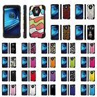 Moto [Droid Turbo 2/ Turbo2] Armor Case KickStand  [Screen Protector] Design [A]