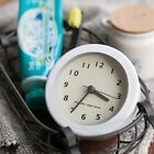New white Bath Clock Small Wall Clock Antique clock Number Modern Vintage Living