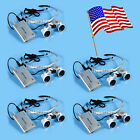Silver Dental LED HeadLight Lamp+ Surgical Medical Binocular Loupes 3.5x420mm