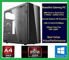 Custom Built AMD A4-6300 3.7 GHz Gaming Desktop PC Computer GTX 1050 RX 560 460