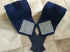 Custom Polo Wraps Navy with Clear-White Bling Horse or Pony Sizes