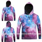 Men's Galaxy Printing Hoodie Sweater Sweatshirt Pullover Jumpers Tops Blouse EE