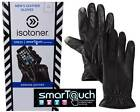 Isotoner SmarTouch Men's All Sizes Genuine Leather Gloves Touchscreen Compatible