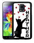 PERSONALIZED RUBBER CASE FOR SAMSUNG NOTE 8 5 4 3  CAT PAWING FLOATING HEARTS
