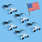 Dental Surgical Medical Binocular Loupes Glasses 3.5x420mm Silver USA Shipping