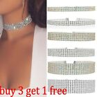 Fashion Women Full Diamond Crystal Rhinestone Choker Necklace Wedding Jewellery