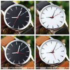 Men/Women Simple Dot Scale Dials Lovers PU Leather Band Quartz Wristwatch Gift