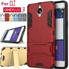 For OnePlus 3 & 3T Case Hybrid Kickstand Armor Slim Hard Protective Phone Cover