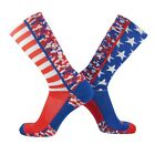 TCK USA Flag Patriot - Red/White/Blue Digital Camo - Crew Socks