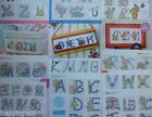 Cross Stitch Charts - Alphabets  - Abc - Circus, School, Sweets, Gnomes, Shoes