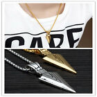 Men's Jewelry Silver Gold Stainless Steel Sword Pendant Chain Necklace as Gifts