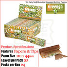 GREENGO 2 in 1 Kingsize SLIM Rolling Papers & Filter/Roach Tips - 2/4/6/12 & Box