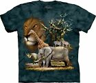 The Mountain Unisex Kinder Africa Collage Zoo Tier T Shirt