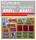 Decal Sticker set. KUBOTA KX41-3  Mini Digger Pelle Bagger Excavator