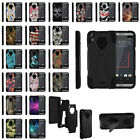 For HTC Desire 530 Hybrid Dual Layer Shell Shock Case With Built-in Kickstand