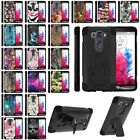 For LG V10 Hybrid Dual Layer Shell Shock Protective Case w/ Built-in Kickstand
