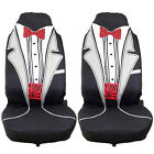 Hot 2pcs 5 style High Back Universal Auto Car Bucket Seat Cover for most cars