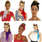 NEON PLAIN POLKA DOT head neck  SCARF ROCKERBILLY VINTAGE 50'S ROCK & ROLL