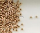 12k Rose Gold Filled 2.5mm Round Seamless Spacer Beads, Choice of Lot Size