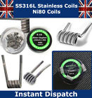 Ready Pre Made Stainless steel Coils for RBA RTA temp control CLAPTON NOTCH VAPE