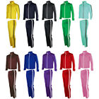 Mens Womens Jogging Running Slim Track Suit Warm Up Jackets Pants Gym Training