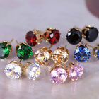Women Lady Girl Gold Filled Crystal Rhinestone Ear Stud Earrings Fashion Jewelry