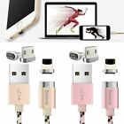 BASEUS 2.4A Magnetic 8pin+Micro USB Charger Data Cable For iPhone 5/6/7 Samsung