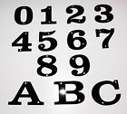 Number Letter Acrylic Screw in Digits Plate Plaque House Door Sign Black 2 Inch