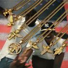 Hot Sell mens hip hop jewelry Micro Angel Necklace charm collar gold plated