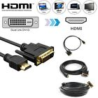 hdtv display - NEW HDMI to DVI-D 24+1 Pin Display Adapter Cable Male Gold HD HDTV 3 5 6 10 15ft