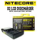 AUTHENTIC Nitecore D2 LCD Digicharger IMR Battery Charger w 18650 Battery Option