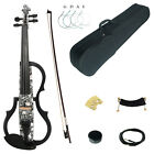 Kinglos Full Size 4/4 Colored Solid Wood 3-Band EQ Electric / Silent Violin Kit
