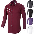 Clearance Items Mens Fashion Luxury Casual Slim Fit Long Sleeve Dress Shirts Top