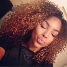 Brazilian Ombre Human Hair Weave 1B/30 Kinky Curly Hair Extensions 100g/pc