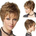 Fashion Women Party Sexy Short Wavy Curly Brown Mix Synthetic Natural Full WiPL2