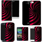 hard slim case cover for many mobiles -  pink twirl dazzle
