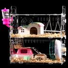 hamster c - Hamster Cage Transparent View 2 Layer Mice Mouse Castle Rat House Villa Acrylic
