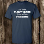 Perfect My Drinking T Shirt -- Clothing Funny  Mens Womens Tee