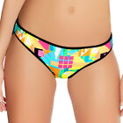 Freya Swimwear Tribal Trax Low Rise Hipster Bikini Brief/Bottoms Neon 3792 NEW