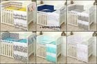 MULTI COLORS, PATTERNS, VARIATIONS -  BABY COT OR COT SET - BUMPER -COVERS+ MORE