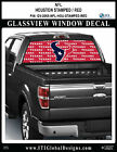 HOUSTON TEXANS - STAMPED RED Window Wrap / Truck Car SUV Decal Sticker NFL