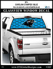 CAROLINA PANTHERS - STAMPED BLUE Window Wrap / Truck Car SUV Decal Sticker NFL