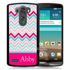 PERSONALIZED RUBBER CASE FOR LG G3 G4 G5 PINK BLUE WHITE CHEVRON