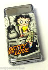BETTY BOOP TRAVELS SHOPPING NEW YORK PARIS SLIM GAS REFILLABLE LIGHTER and Pouch