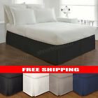 Lux Hotel Basic Microfiber 14-Inch Bed Skirt Bedding - Twin Full Queen King NEW